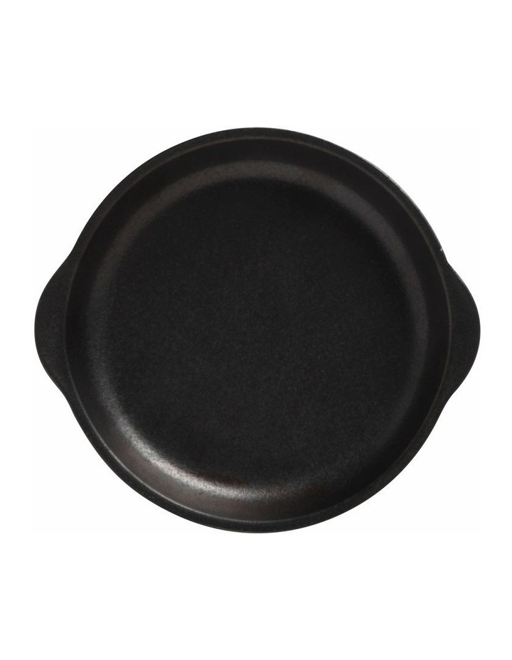 Caviar Plate with Handle 15.5x17cm Black image 1