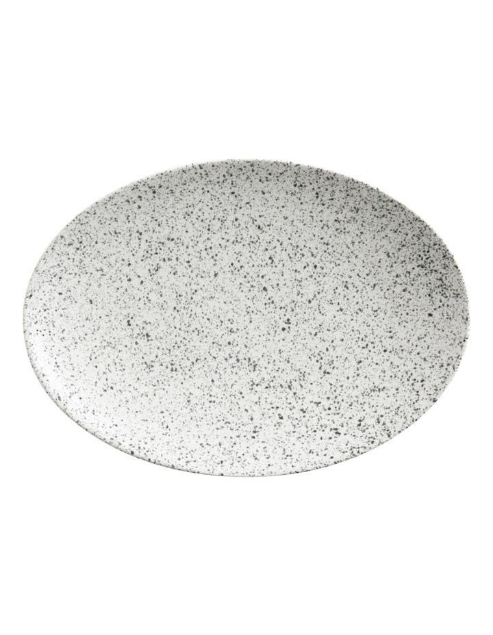 Caviar Speckle Oval Plate 30x22cm Cream image 1