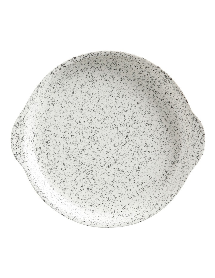 Caviar Speckle Plate with Handle 20x22.5cm Cream image 1