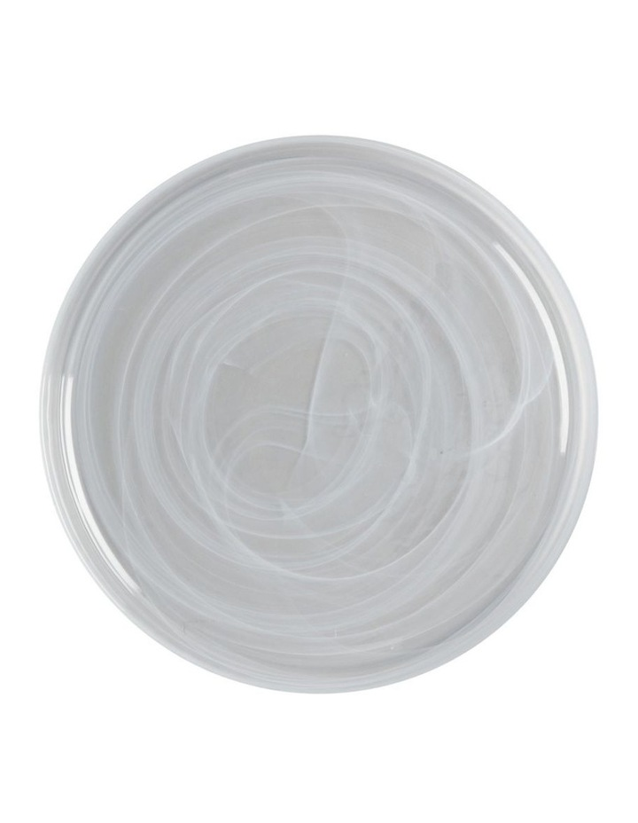 Marblesque Plate 34cm White image 1
