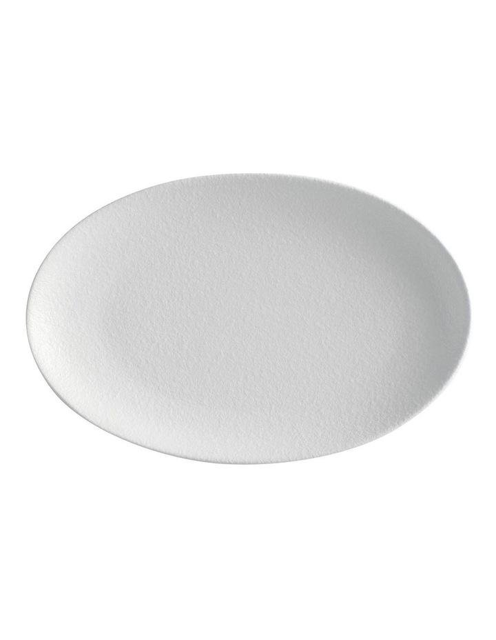 Caviar Oval Plate 25x16cm White image 1