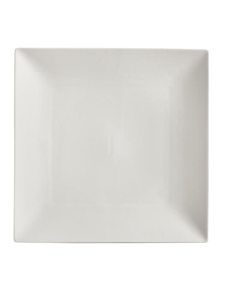 White Basics Linear Square Plate 18cm image 1