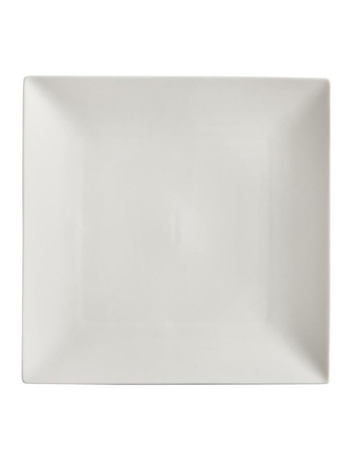White Basics Linear Square Plate 26cm image 1