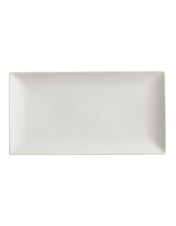 White Basics Linear Rectangular Plate 24x13cm image 1