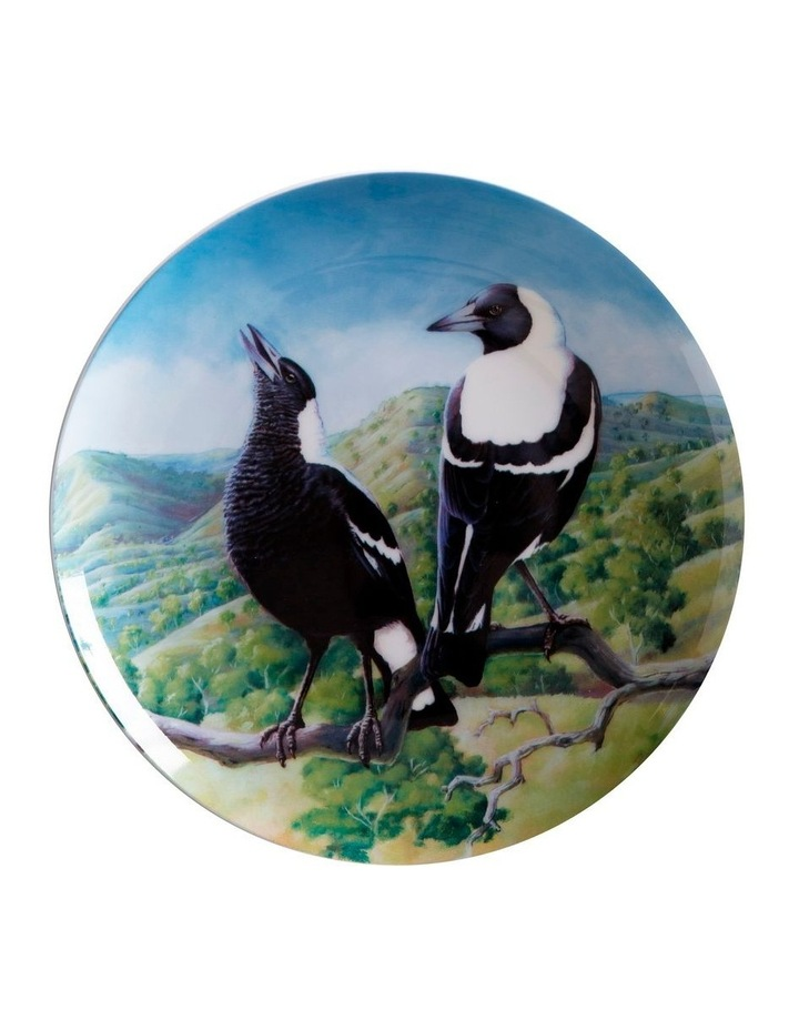 Birds of Australia KC 10yr Anniversary Plate 20cm Magpie Gift Boxed image 1