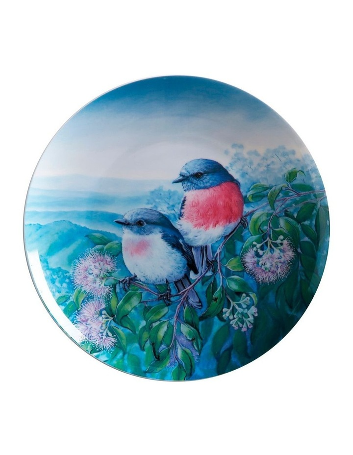 Birds of Australia KC 10yr Anniversary Plate 20cm Rose Robin Gift Boxed image 1