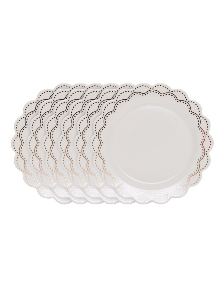 ECLECTIC Plate - 19cm - White with Gold - Set of 6 image 1