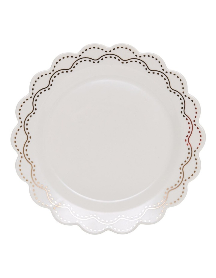 ECLECTIC Plate - 19cm - White with Gold - Set of 6 image 2