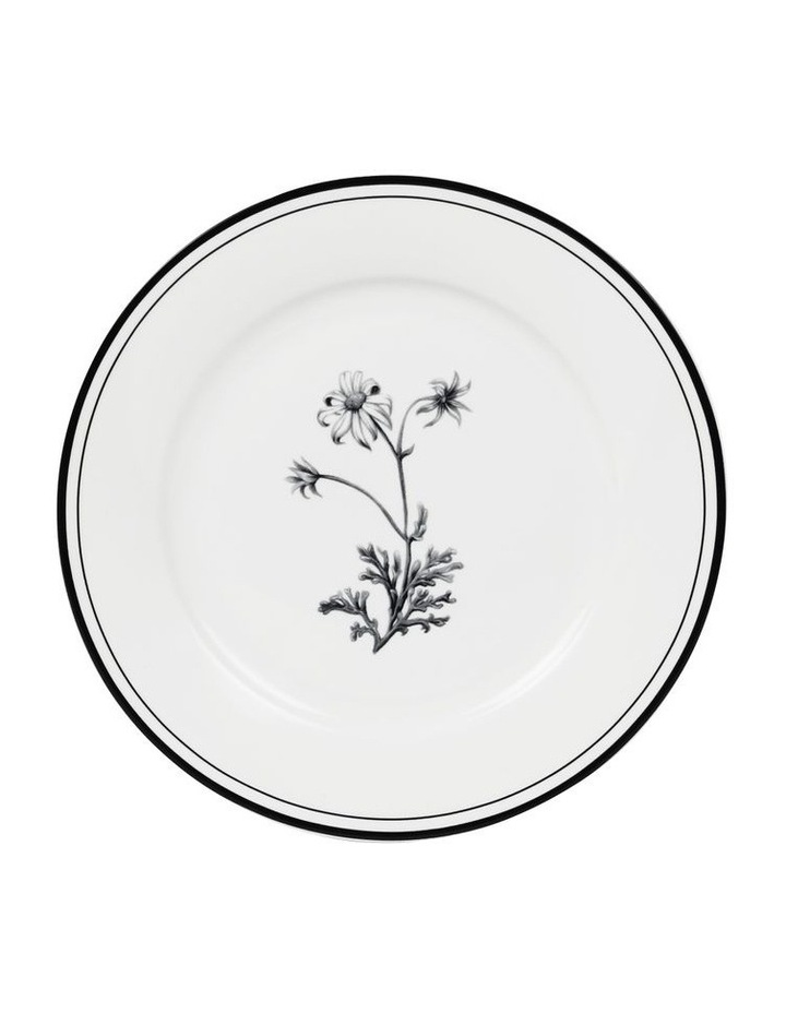 Matilda 19cm Bone China Plate in White/Black Decal image 1