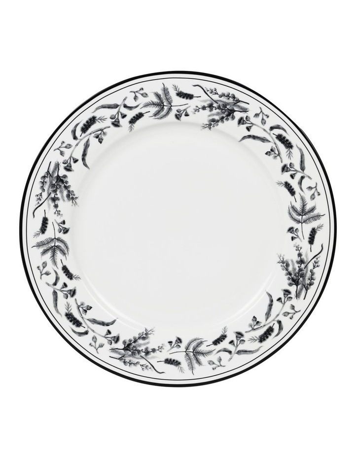 Matilda 27cm Bone China Plate in White/Black Decal image 1
