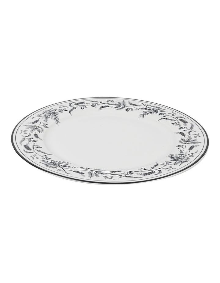 Matilda 27cm Bone China Plate in White/Black Decal image 2
