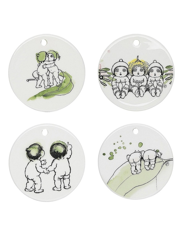 Snugglepot & Cuddlepie Ceramic Christmas Decorations Set of 4 - Limited Edition - Gift Boxed image 1