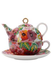 Teas & C's Glastonbury Tea For 1 300ML Poppy Gift Boxed