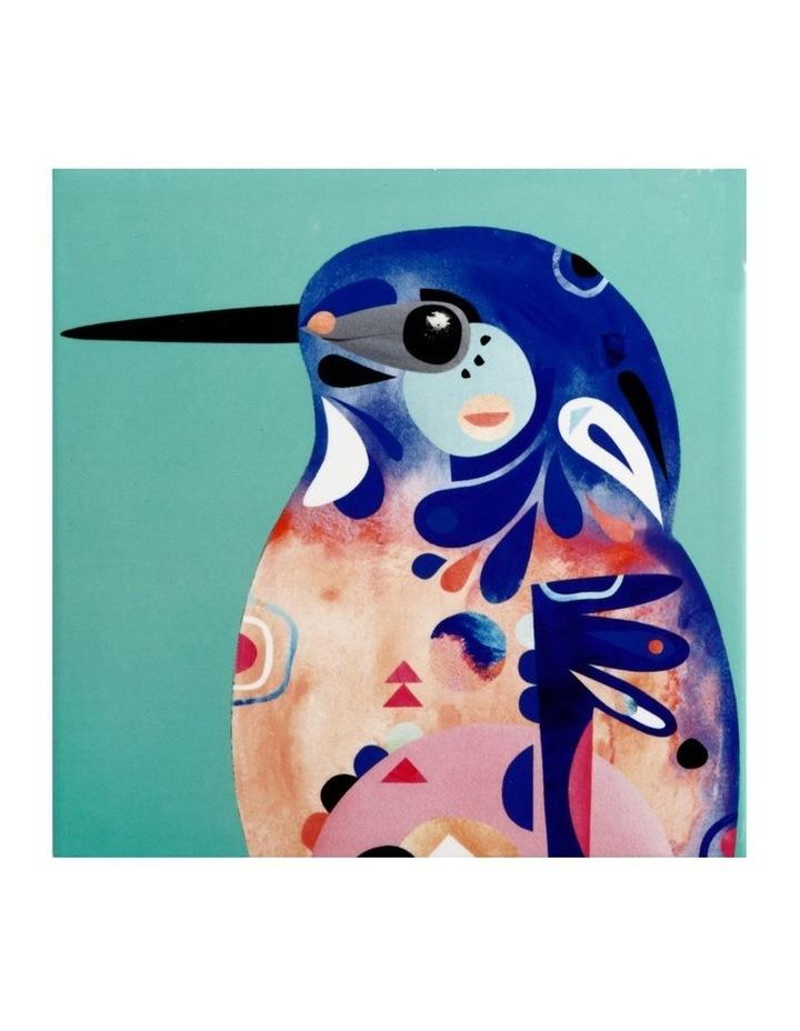 Pete Cromer Ceramic Square Tile Trivet 20cm Azure Kingfisher image 1