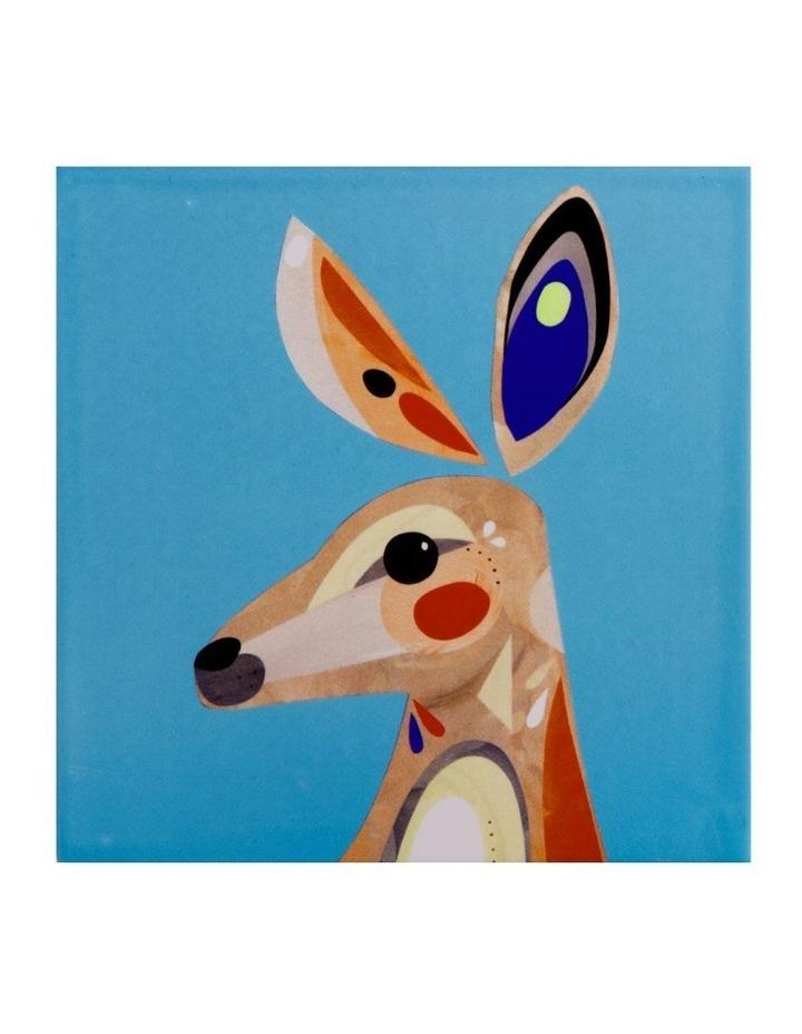 Pete Cromer Ceramic Square Tile Trivet 20cm Kangaroo image 1