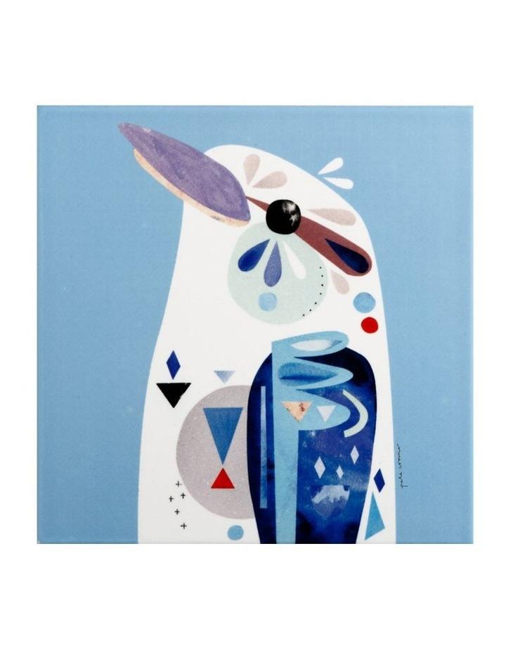 Pete Cromer Ceramic Square Tile Trivet 20cm Kookaburra image 1
