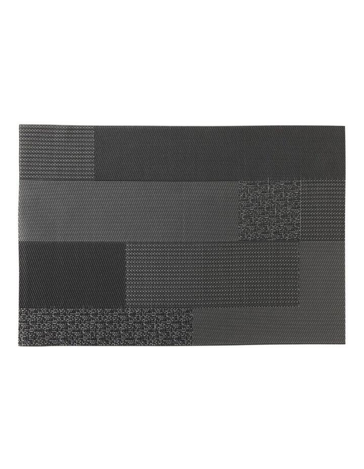 Placemat Blocks 45x30cm Black image 1