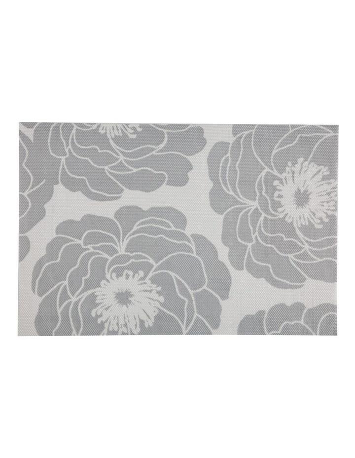 Placemat Camellia 45x30cm Silver image 1
