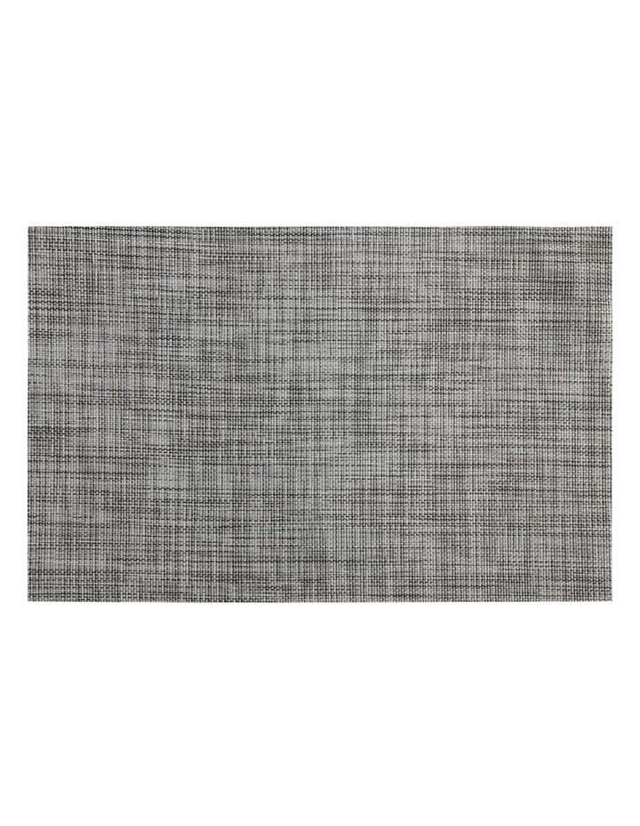 Placemat Crosshatch 45x30cm Grey image 1
