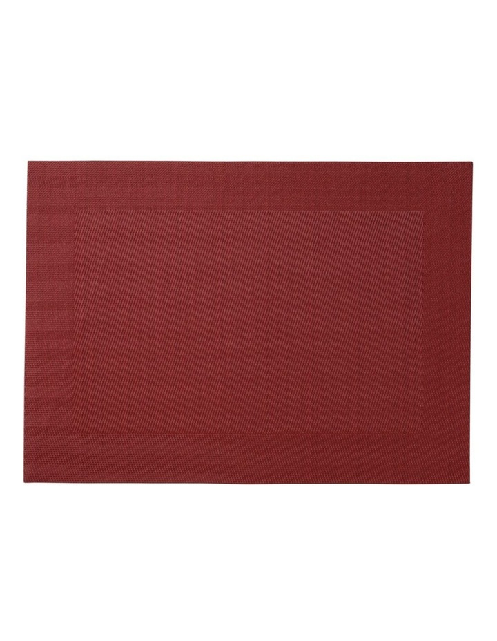 Placemat Wide Border 45x30cm Red image 1