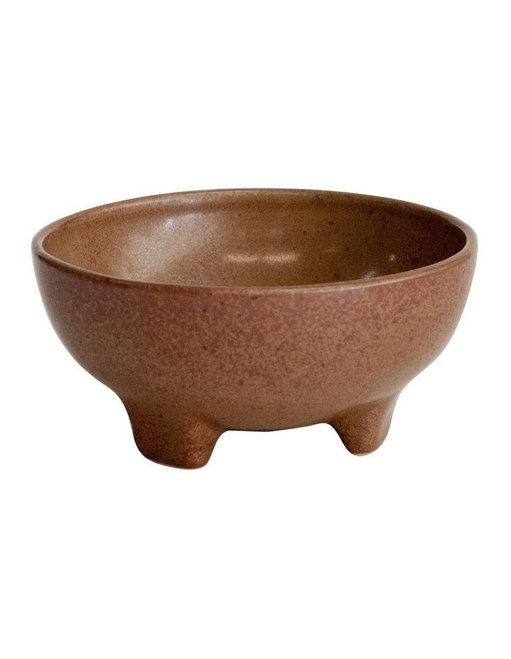 ARTEFACT Footed Dip Bowl - 10x4.5cm - Rust image 1
