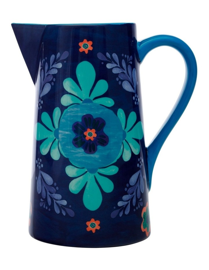 Majolica Pitcher 2.4L Blue Gift Boxed image 1