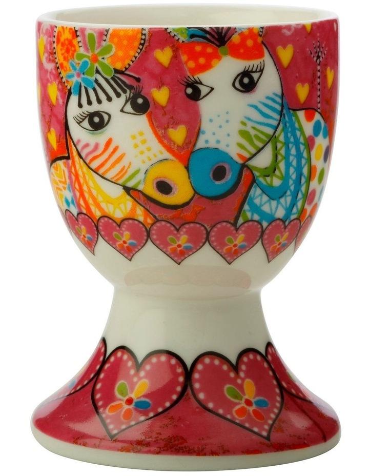 Love Hearts Egg Cup Zig Zag Zebras image 1