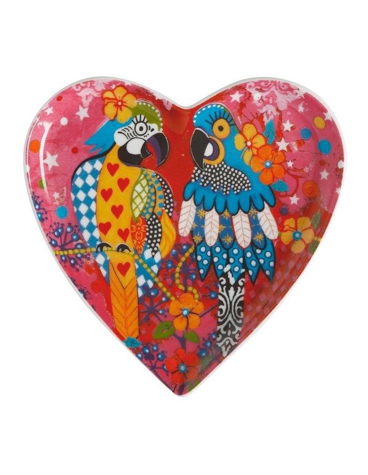 Love Hearts Heart Plate 15.5cm Araras Gift Boxed image 1