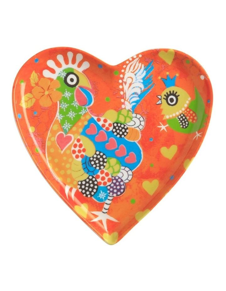 Love Hearts Heart Plate 15.5cm Chicken Dance Gift Boxed image 1