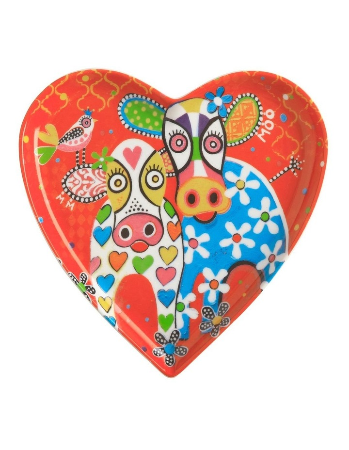 Love Hearts Heart Plate 15.5cm Hapy Moo Day Gift Boxed image 1