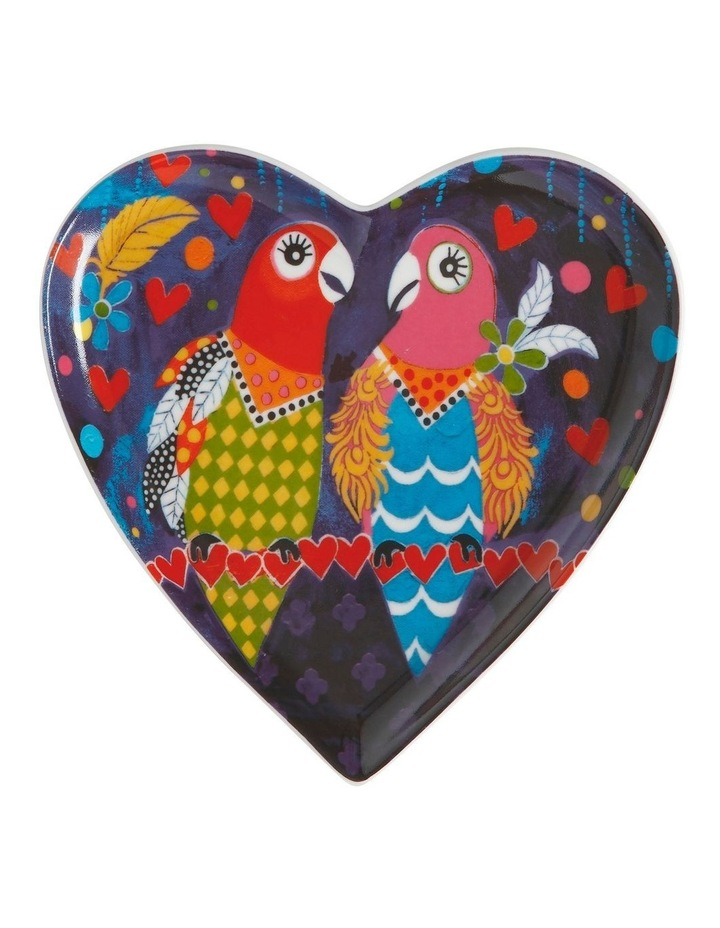 Love Hearts Heart Plate 15.5cm Love Birds Gift Boxed image 1