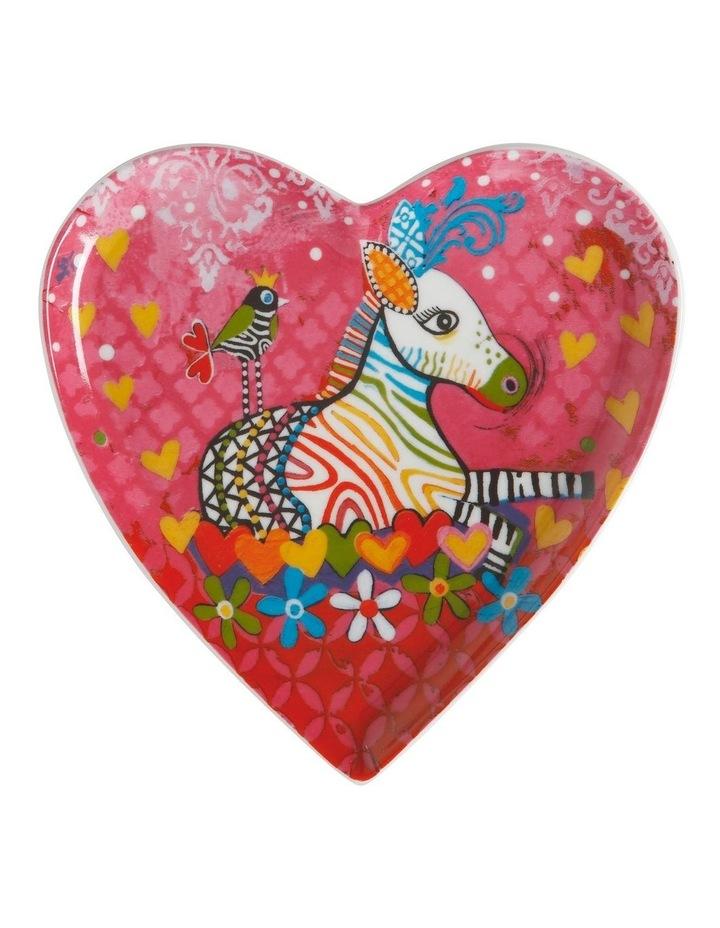 Love Hearts Heart Plate 15.5cm Zig Zag Zeb Gift Boxed image 1