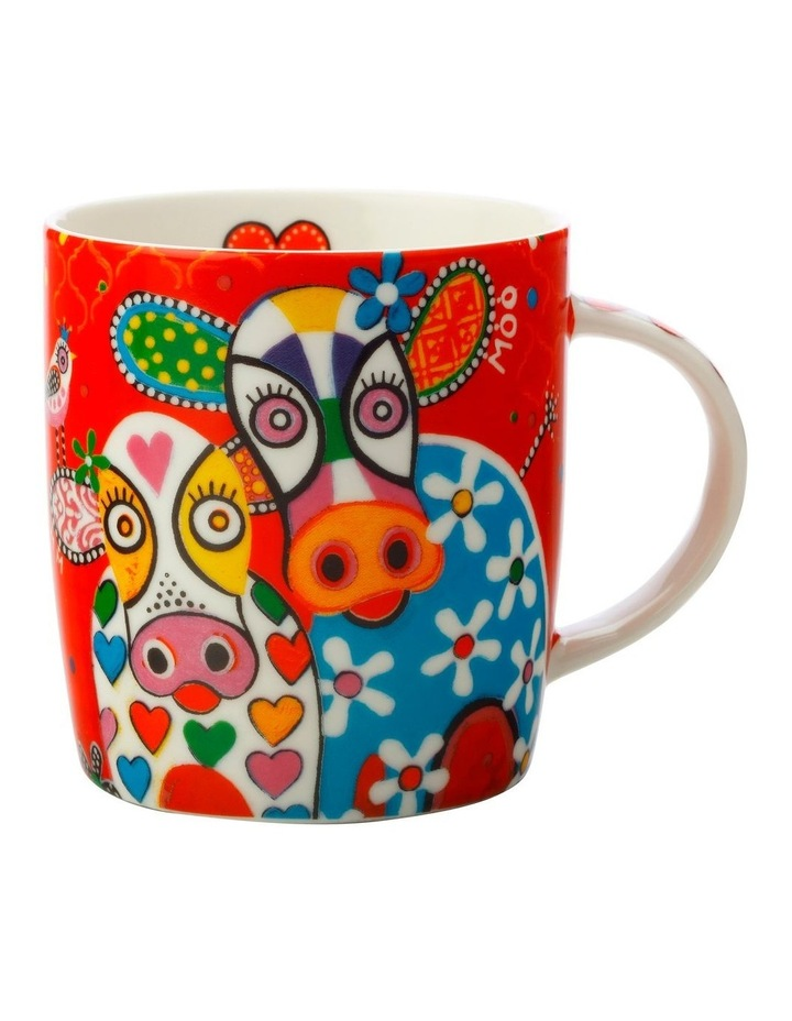 Love Hearts Mug 370ML Happy Moo Day Gift Boxed image 1