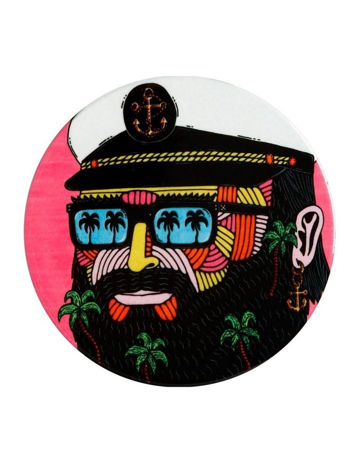 Mulga the Artist Ceramic Round Coaster 10.5cm Captain image 1