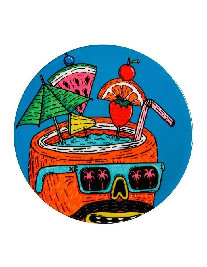 Mulga the Artist Ceramic Round Coaster 10.5cm Coconut image 1