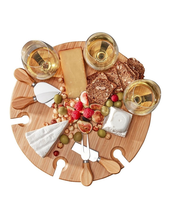 Picnic Circular Wine Tray & Cheese Knives 33.5cm image 3