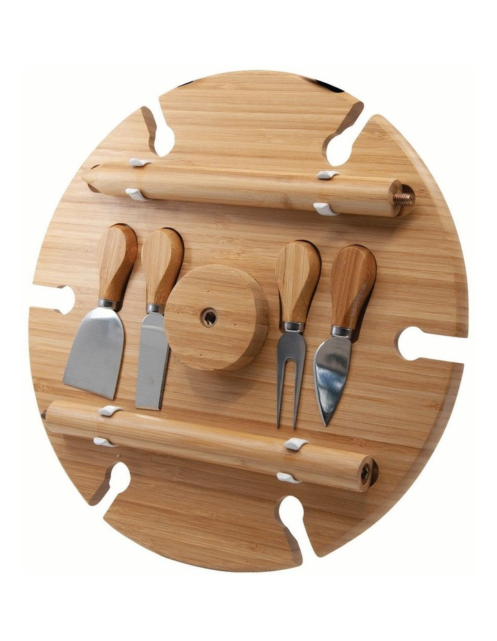 Picnic Circular Wine Tray & Cheese Knives 33.5cm image 4