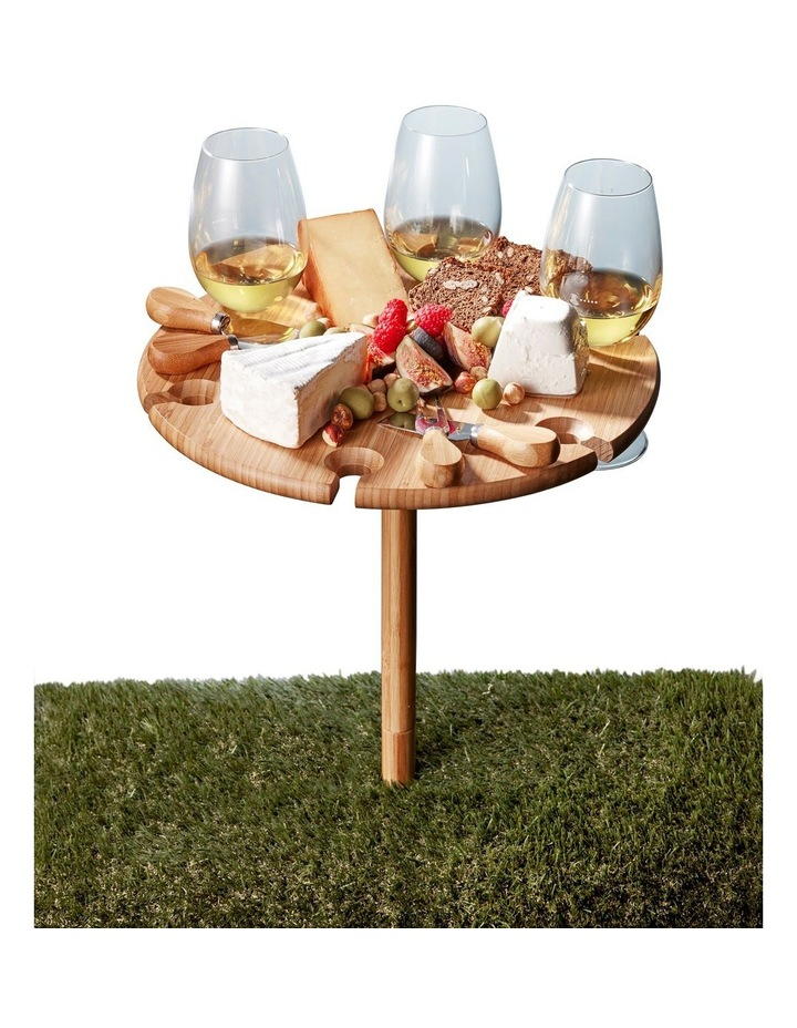 Picnic Circular Wine Tray & Cheese Knives 33.5cm image 5