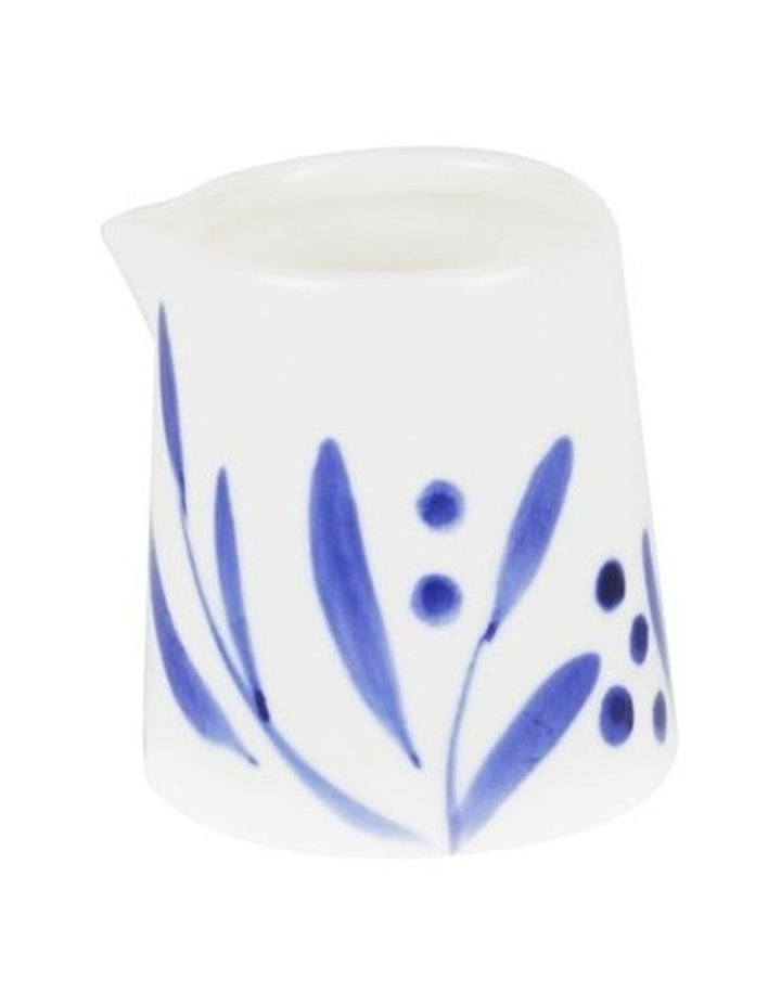 Bone China Wattle Creamer - Blue Hand Brushed image 1