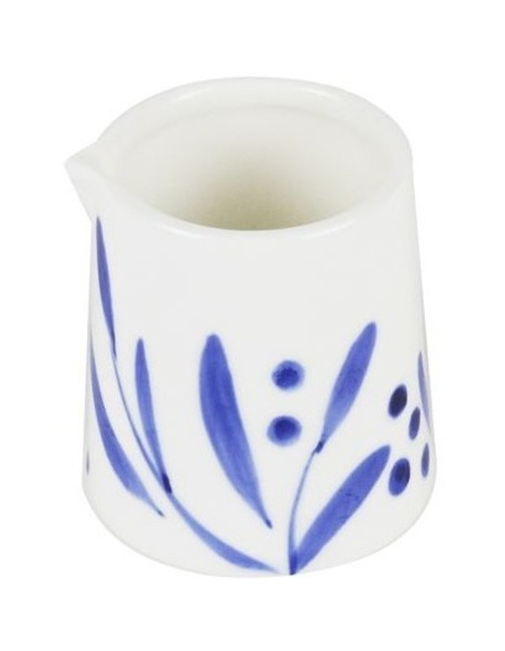 Bone China Wattle Creamer - Blue Hand Brushed image 2