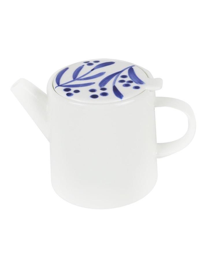 Bone China Wattle Teapot - Blue Hand Brushed image 2