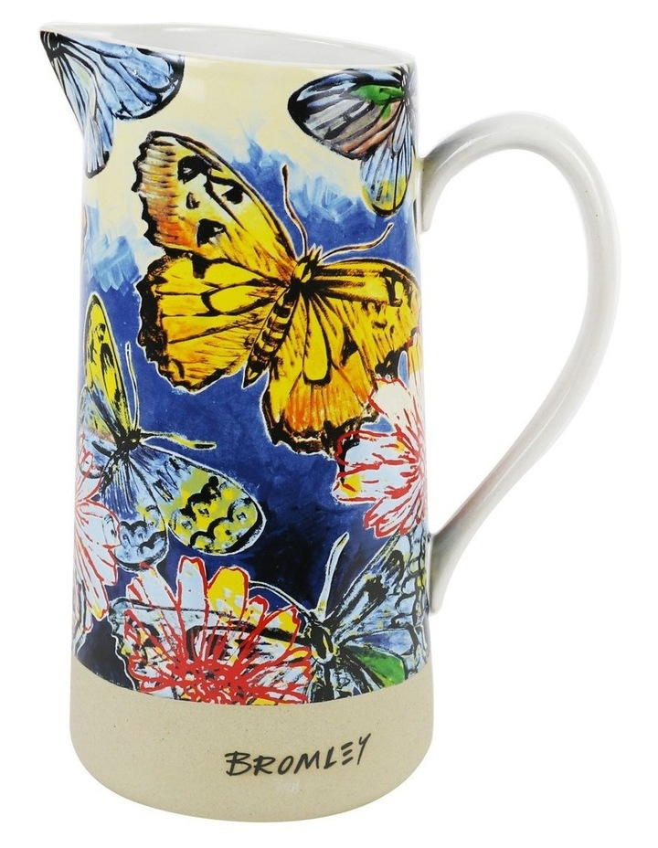Bromley Large Jug with Handle - Butterfiles Dip Painted 3 image 1