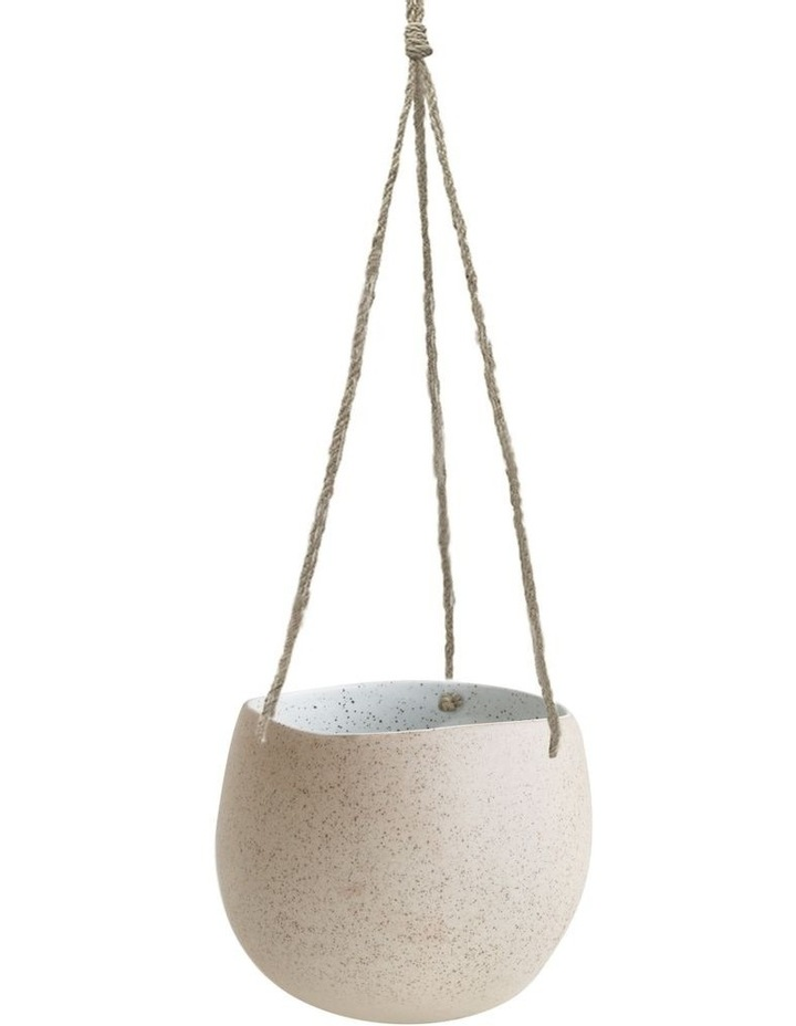 Garden To Table Hanging Planter Large - White Speckle image 1