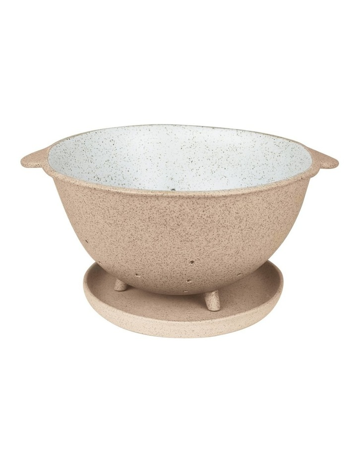 Garden To Table Colander & Plate Raw w/Glazed Dip image 1