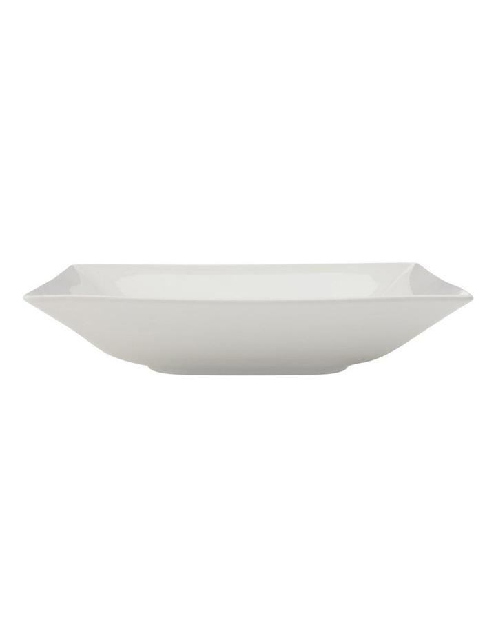 White Basics Linear Square Shallow Serving Bowl 26cm Gift Boxed image 1