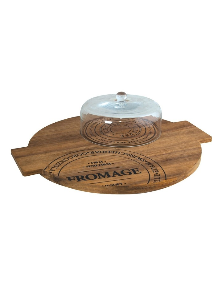 Fromage Board With Glass Dome - 40Cm image 2