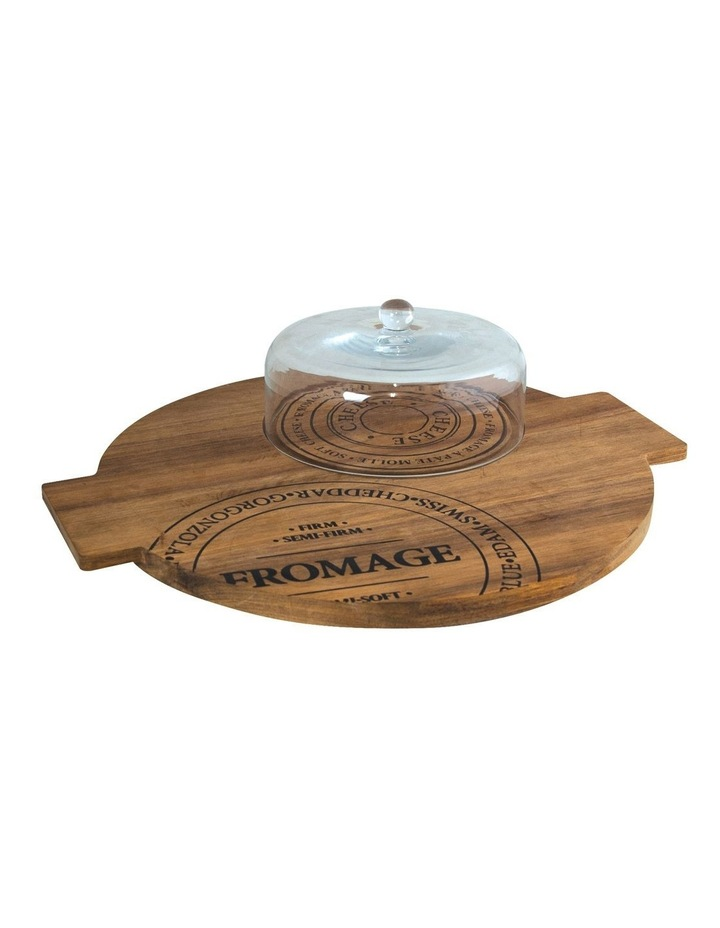 Fromage Board With Glass Dome - 40Cm image 1