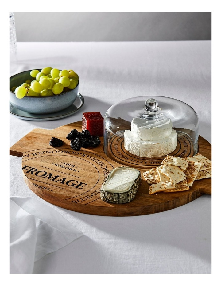 Fromage Board With Glass Dome - 40Cm image 3