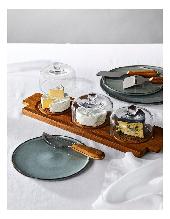Fromage Board With 3 Glass Domes - 46X14Cm image 3