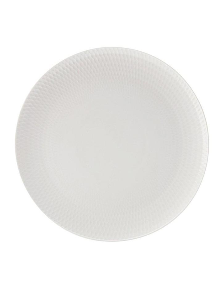 White Basics Diamonds Round Platter Gift Boxed 36cm image 1